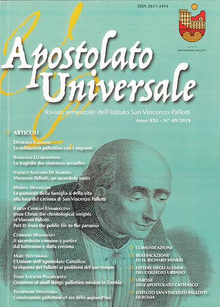 Visualizza V. 21 N. 49 (2019): Apostolato Universale 49/2019