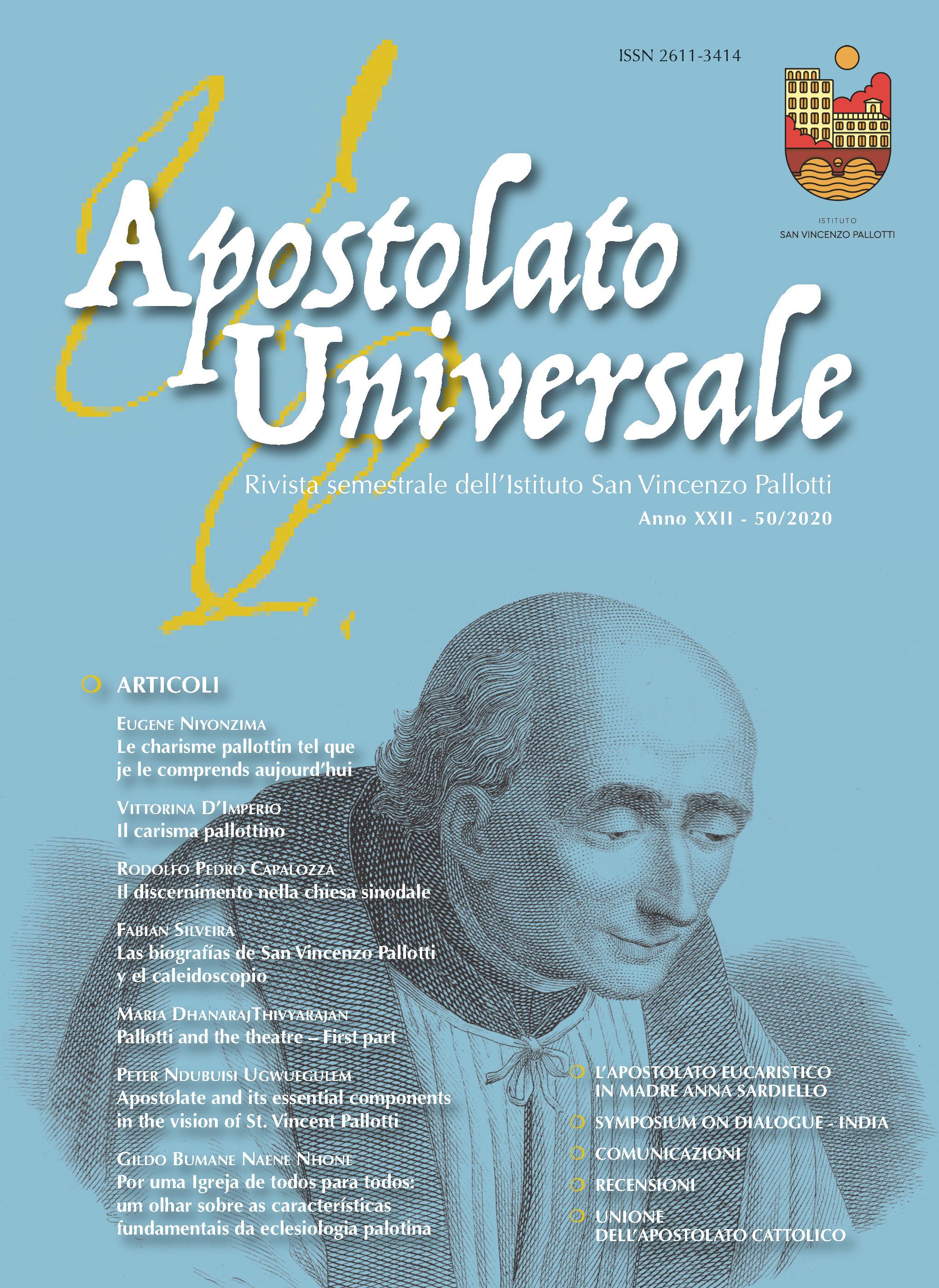 Visualizza V. 22 N. 50 (2020): Apostolato Universale 50/2020