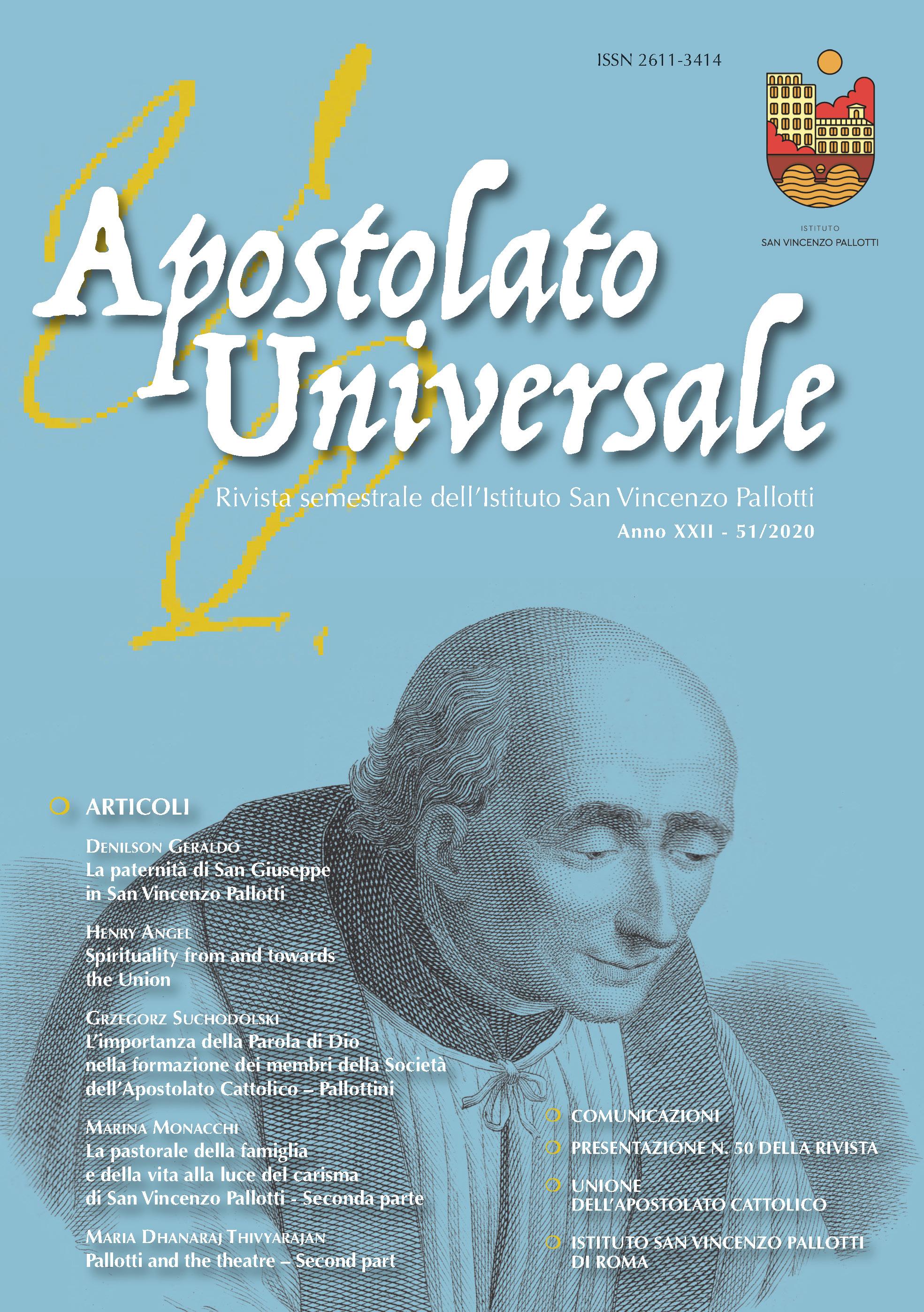 Visualizza V. 22 N. 51 (2020): Apostolato Universale 51/2020